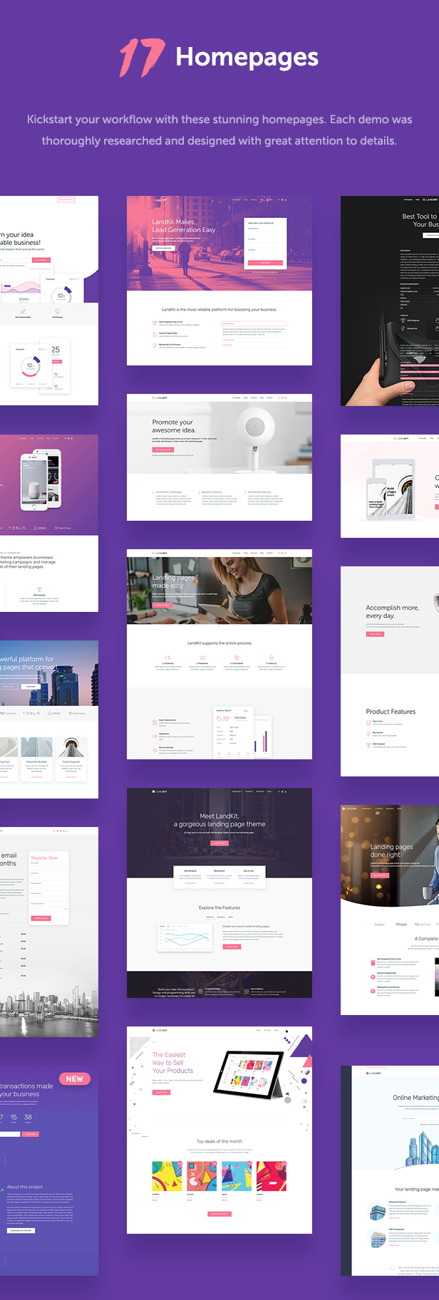 Landkit - WordPress Landing Page Theme - 3